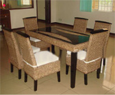 water h yacinth dining set