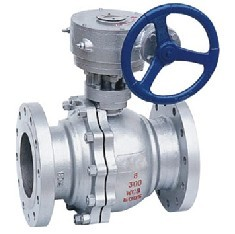 Gear Operated 2pcs Carbon Steel Ball Valve