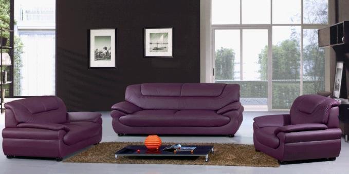 Modern Leather Sofa, Upholstery Sofa, Stylish Seat, Sofa Set