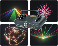 i rainbow RGB cartoon laser