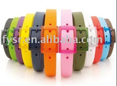 2010 hot fashion silicone belt