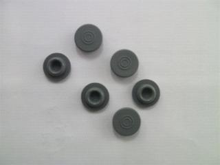 Coated rubber stopper