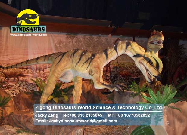 Artificial Dilophosaurus Animatronic dinosaur