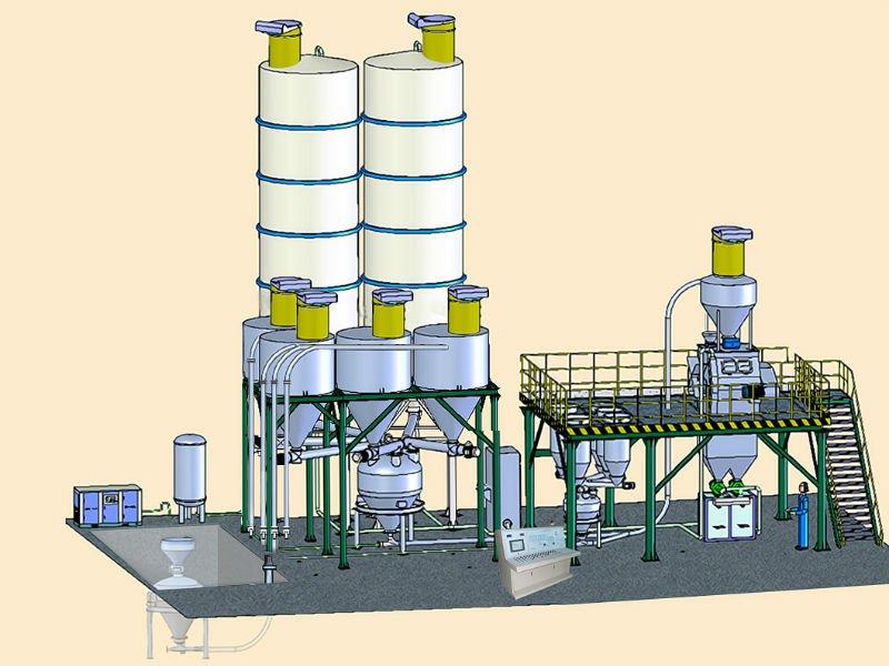 professinal dry mortar mixing production line