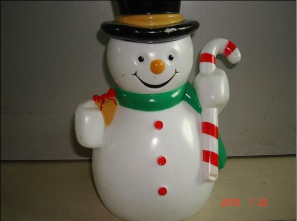 Blow Molding Plastic Snowman Snowman