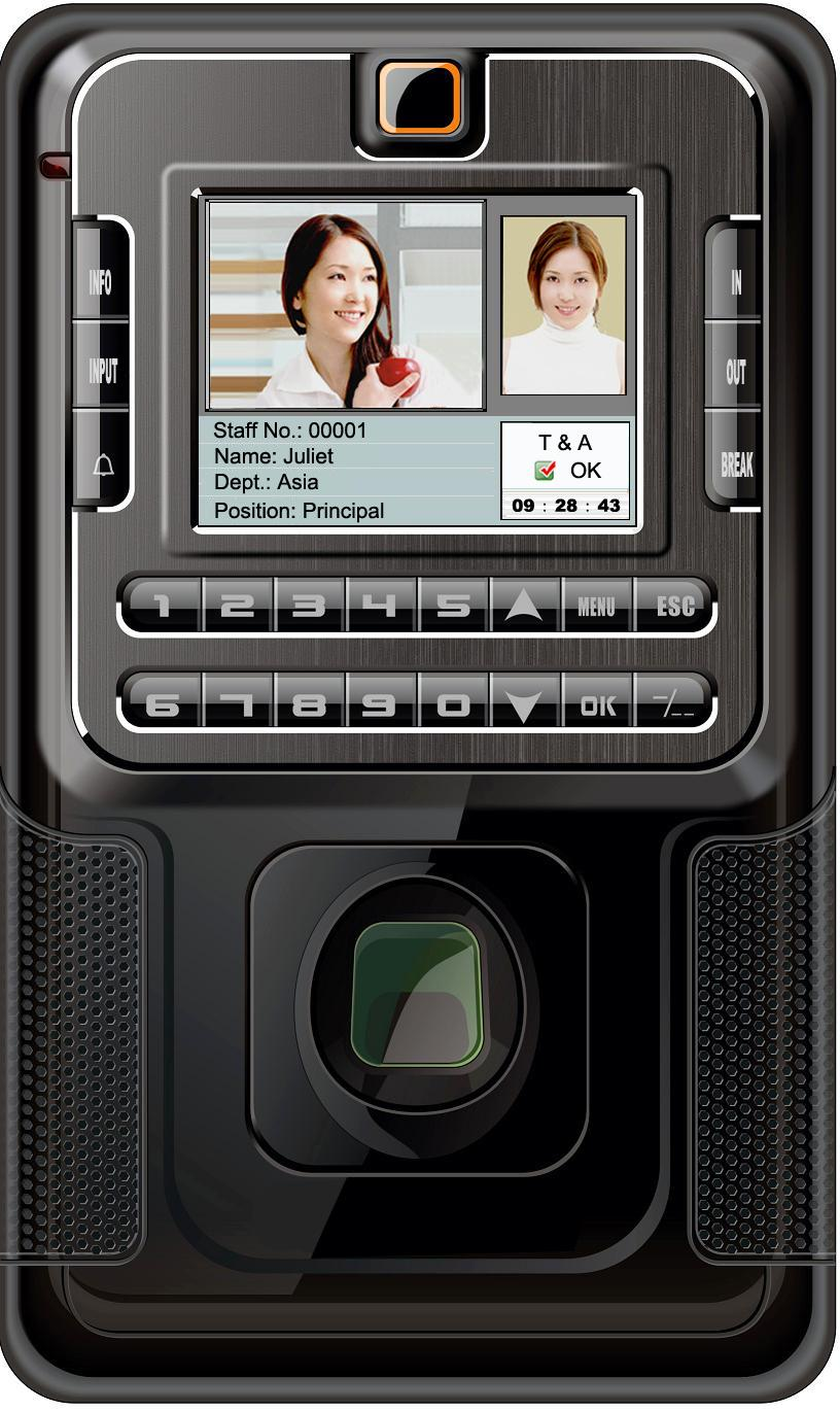 ZKS-T9 Fingerprint Time Attendance And Access Control System