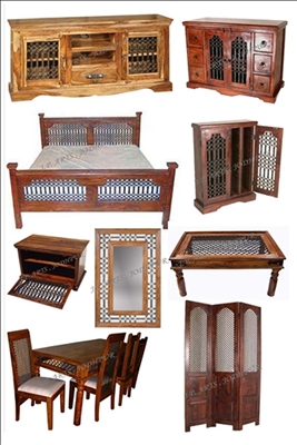Wooden Iron Jali Furniture Wooden Furniture Solid Wood Furniture