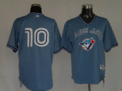 Toronto Blue Jays #10 Vernon Wells Blue MLB Replica Jersey