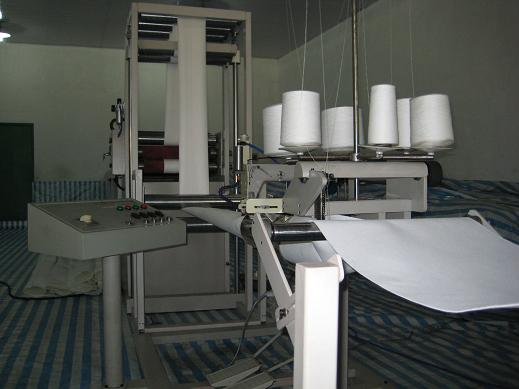 filter tube sewing line