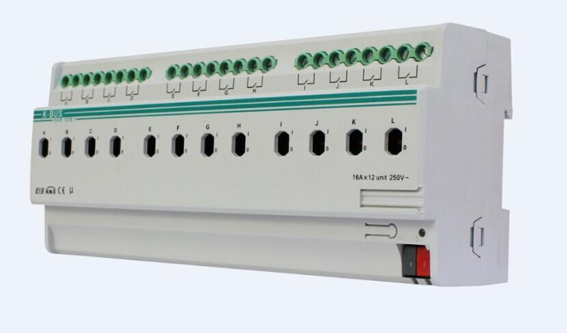 KNX/EIB 4/8/12 folds 16A Switch Actuator
