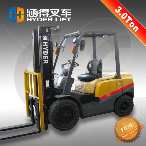 High Performance 3Ton Diesel Forklift With ISUZU C240 Engine