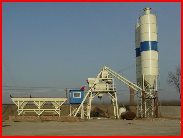 Hopper Lift Concrete Mixing Plant
