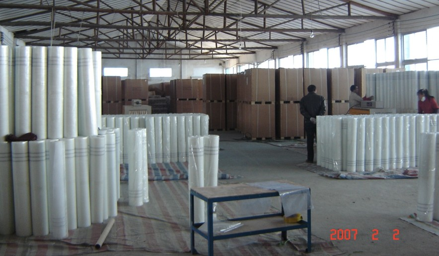 GRC strengthened glass fiber net cloth
