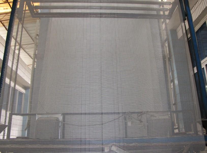 Marble back-affixing strengthened glass fiber net cloth