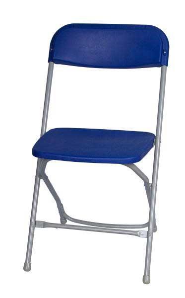 Blue Metal Plastic Folding Chairs