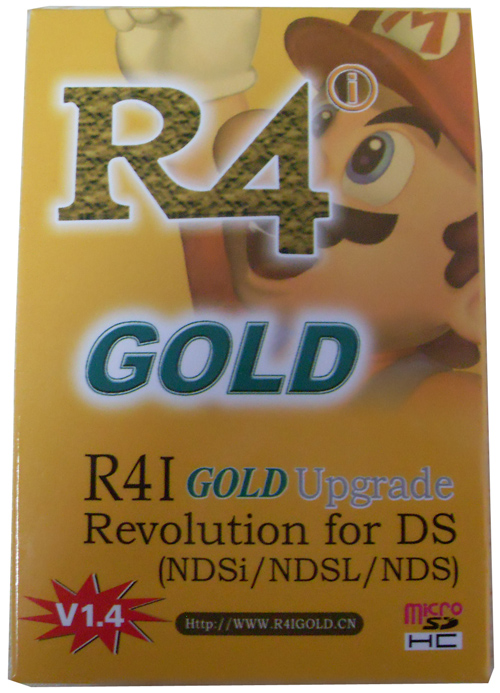 R4 gold game card  for NDSL,NDSi