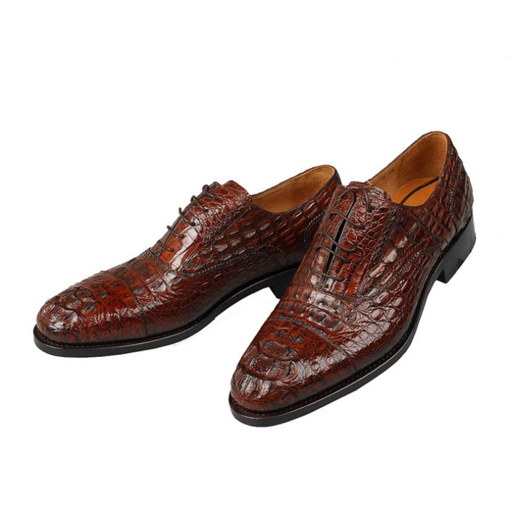 sharp toe formal style genuine leather flat dress shoes for
