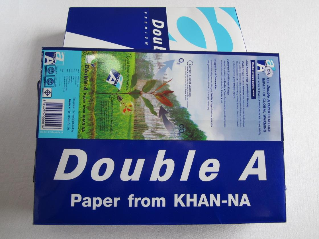 double a paper Double a paper - usa 8k likes paper made from farmed trees double a  paper for a sustainable future it's not just quality copy paper, it's double.