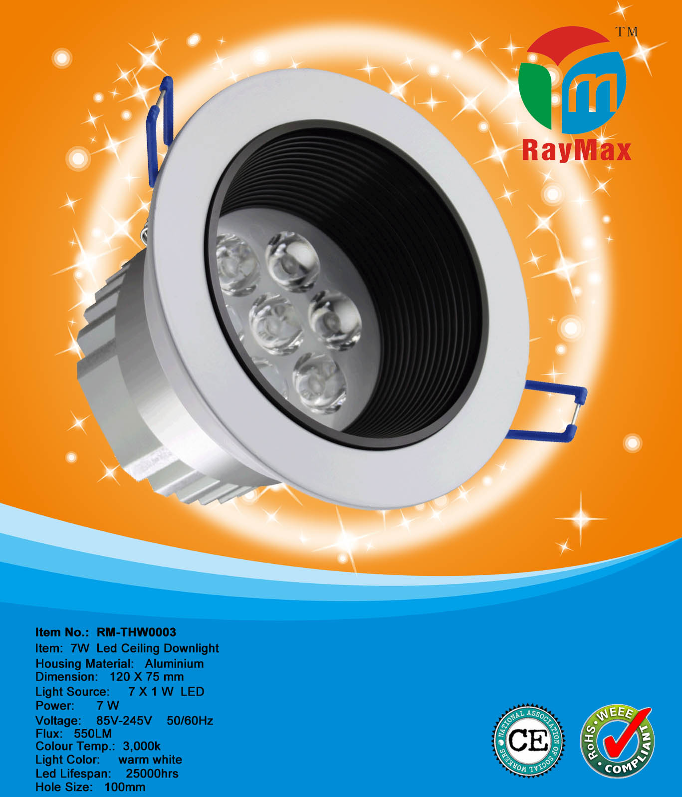 7W LED DOWN LAMP DOWNLIGHT