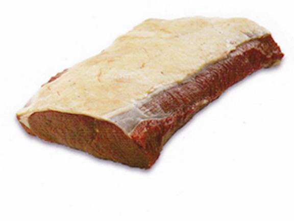 Striploin: Chain muscle, silverskin off, steak ready