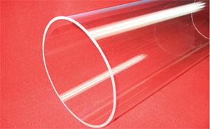 extral large caliber clear fused quartz tube