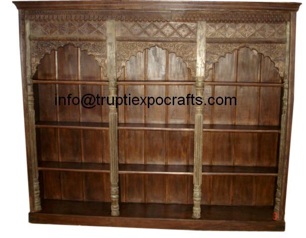 old arch bookshelf