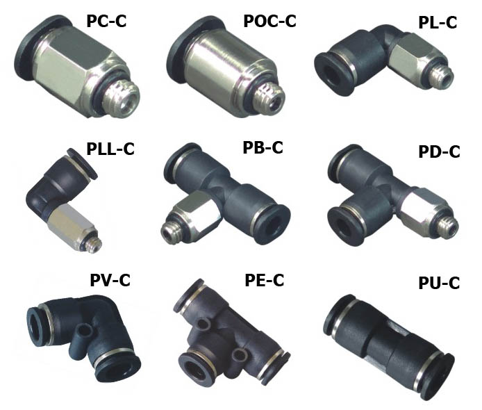 China Pneumatic fittings,Push in fittings