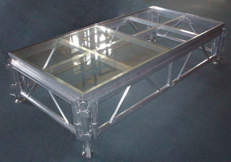 glass stage,transparent stage