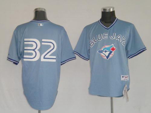 Toronto Blue Jays #32 Roy Halladay Blue MLB Replica Jersey