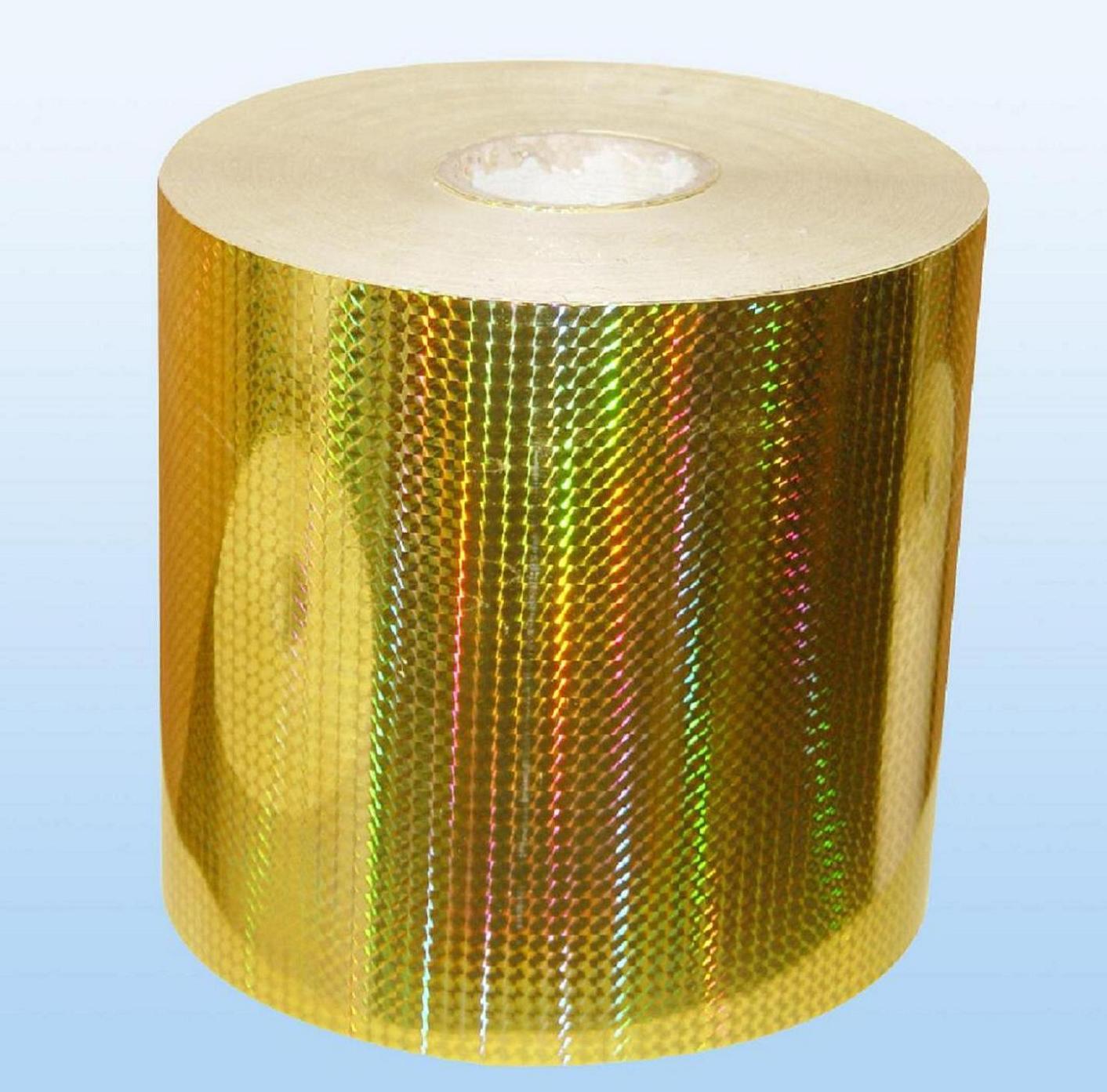gold laser sticker
