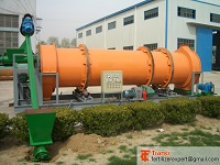 Fertilizer granulating machine rotary drum