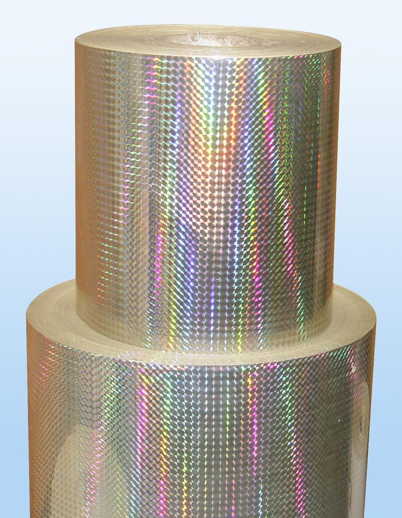 silver laser sticker