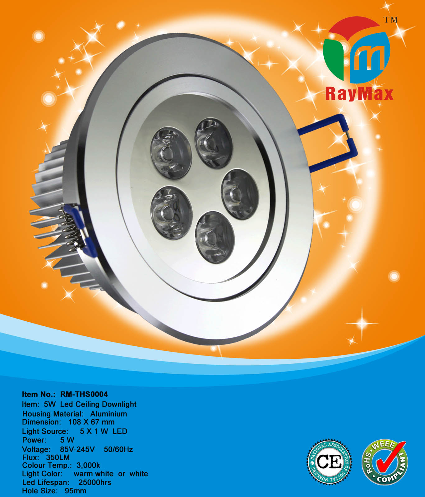 5W LED COB DOWNLIGHT LAMPADAS