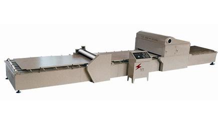 Glue spreading-overlaying-drying Machine