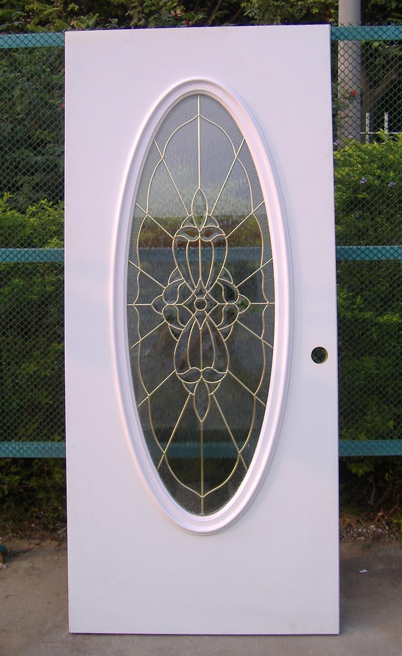 Exterior glass doors business - Big Oval Steel Glass Door Glass Steel Door