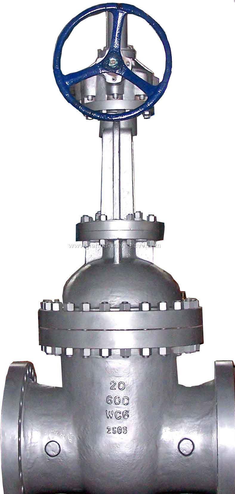 Astm a216 wcc flanged RF RTJ gate valve class 150 300 600