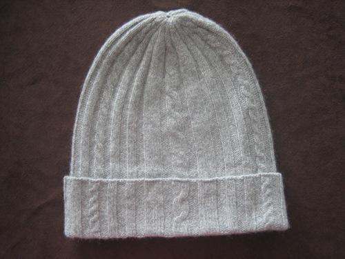Cashmere Cable Hats, Cashmere Beret