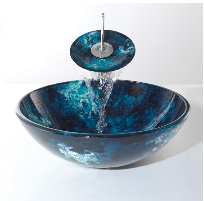 Bathroom Basin Bowls : Glass sink with facuet ,wash basin,wash bowls,wash sink