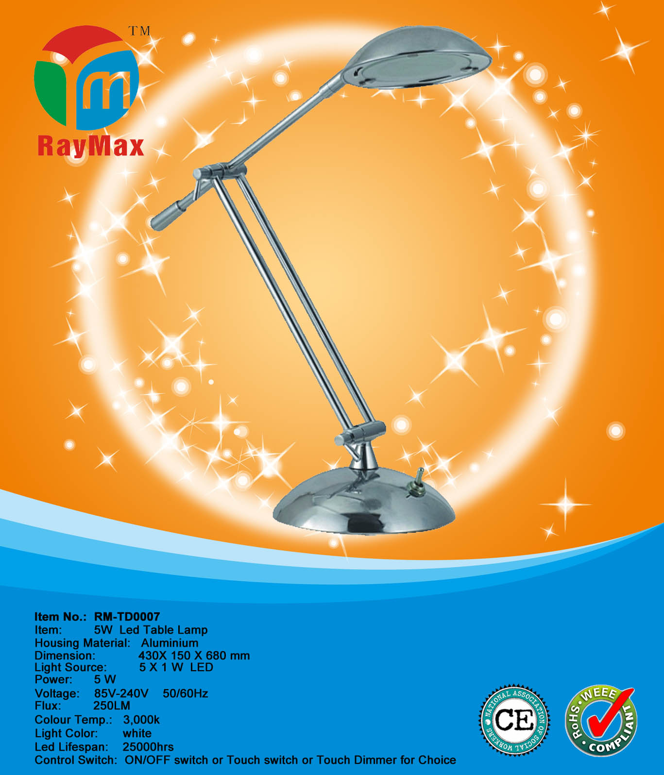 5W LED DESK LAMP LIGHT