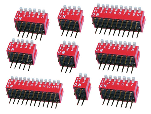 2-12position piano type DIP switch
