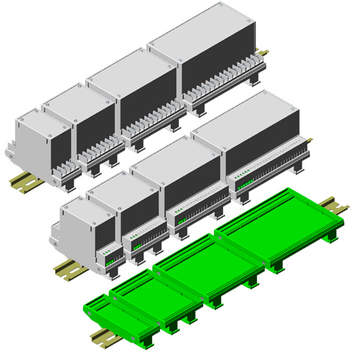 Universal Din Rail Enclosures / PCB Holders