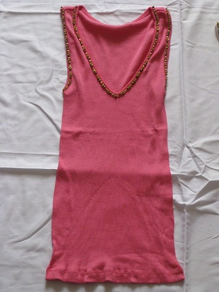 Ladies' cotton woven shirt vest