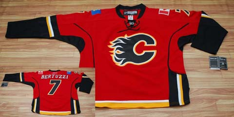  nhl jerseys #7 BERTUZZI RED CALGARY FLAMES