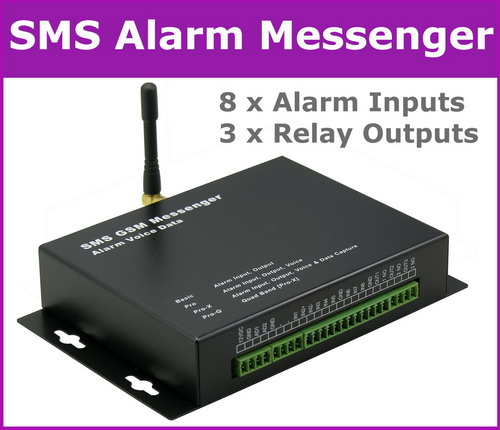 SMS Alarm, Data and Voice Messenger