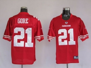 San Francisco 49ers #21 Frank Gore Red NFL jerseys