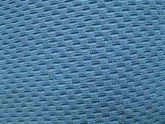 polyester double-knit pique