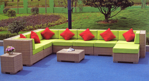 rattan sofa set