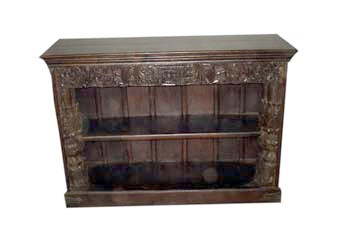 wooden sidebord