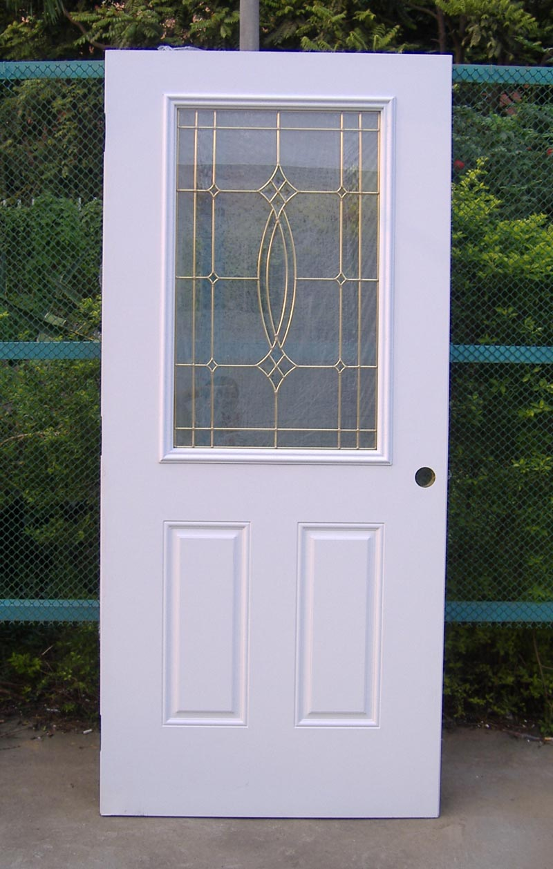 glass panel door modern home house design ideas