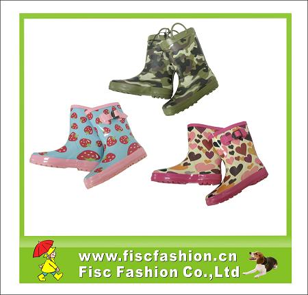 KRB016 Printed rubber rain boots
